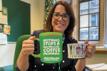 Fay Jones MP raises a mug for Macmillan Cancer Support